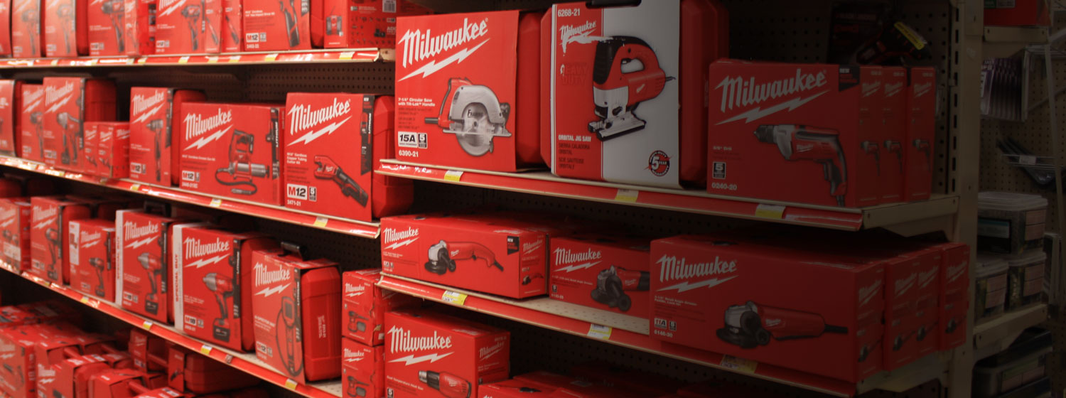 Charlie's Hardware has the largest selection of Milwaukee power tools and accessories in central Wisconsin