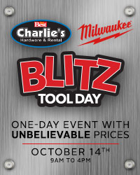 Charlie's Hardware Milwaukee BLITZ Tool Day